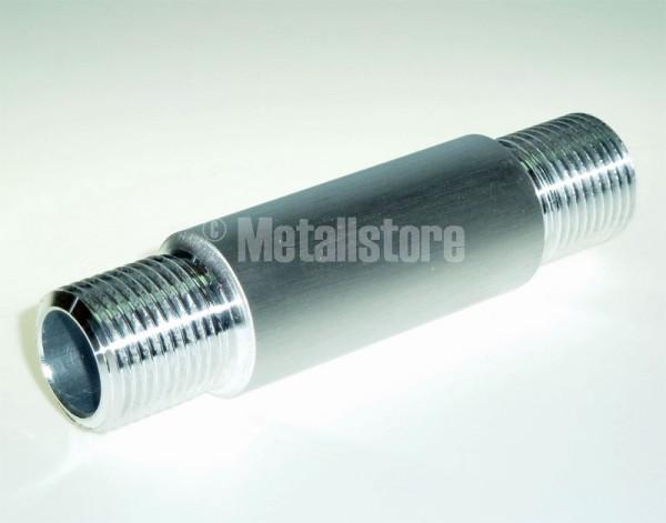 1 1/4 Zoll, 100 mm Doppelnippel - AlMgSi