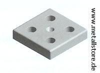 Stahl Fußplatte M12 80 x 80 mm