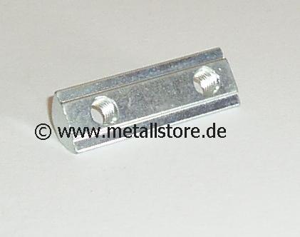 Nut 8 Nutenstein 2 x M8 mit Steg (40 mm)