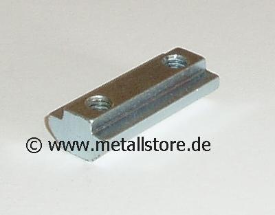 Nut 8 Nutenstein 2 x M6 mit Steg -SCHWER (80 mm)