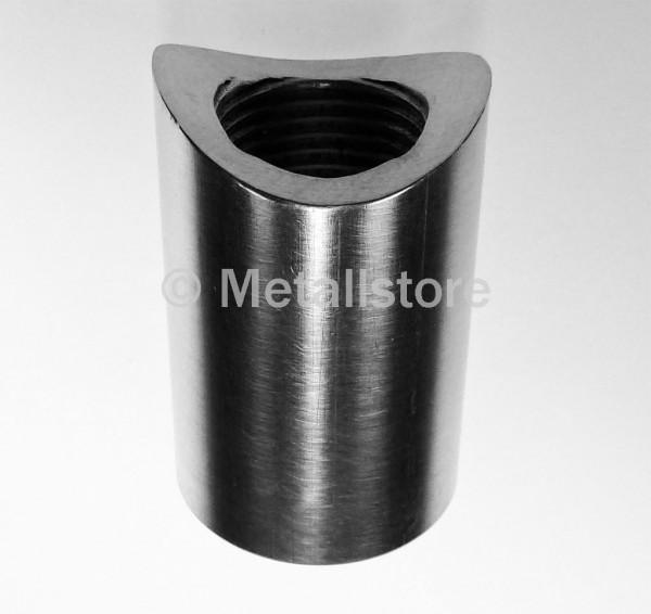 3/4 Zoll, 40 mm Gewindemuffe mit Sattel - AlMgSi