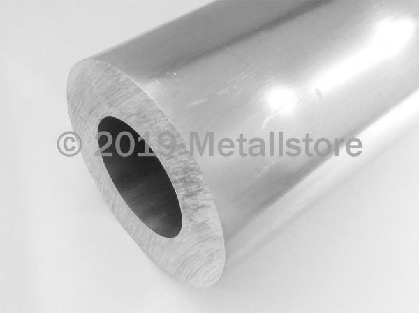 100 x 25 mm Aluminium Rundrohr AlMgSi1