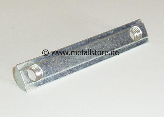 Nut 8 Nutenstein 2 x M8 mit Steg (80 mm)