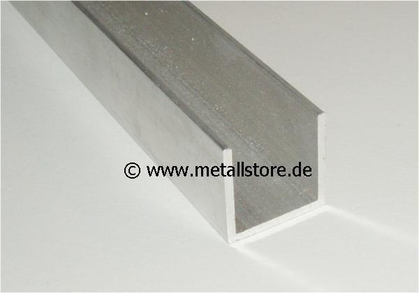 10 Meter - 40 x 40 x 40 x 4 mm Aluminium U-Profil Restposten