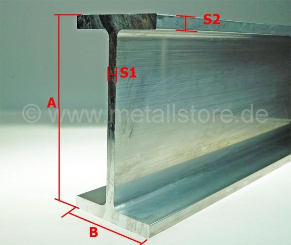 140x90x8x10 mm Aluminium H-Profil AlSiMg(A)