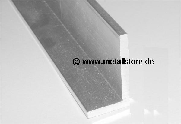 4 Meter - 80 x 40 x 6 mm Aluminium L-Profil Restposten