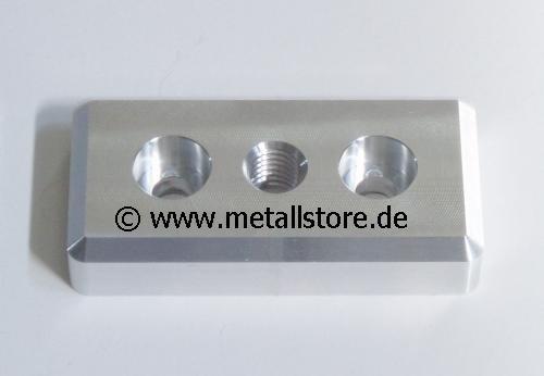 Stahl Fußplatte M16 80 x 40 mm